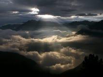Raias de Sun, amanhecer Foto de Stock