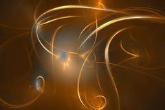 Raias douradas do espaço - illustrati digital ilustração do vetor
