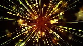 Raias e fundo dourados das estrelas