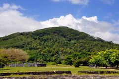 Raiatea, french polynesia. Historic site at south of Raiatea, french polynesia stock images