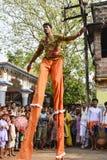 Raibenshe, alternatief Raibeshe, is een genre van Indische volks krijgsdiedans door slechts mannetje wordt uitgevoerd Dit genre v stock foto