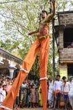 Raibenshe, alternatief Raibeshe, is een genre van Indische volks krijgsdiedans door slechts mannetje wordt uitgevoerd Dit genre v stock afbeelding
