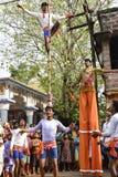Raibenshe, alternatief Raibeshe, is een genre van Indische volks krijgsdiedans door slechts mannetje wordt uitgevoerd Dit genre v royalty-vrije stock foto's