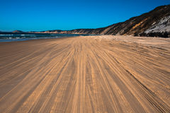 Sand tracks Stock Photography