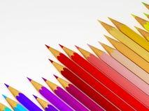 Raibow Bleistifthintergrund Lizenzfreies Stockfoto