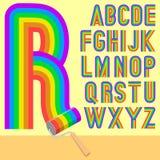 raibow rolownika typeface Zdjęcia Stock