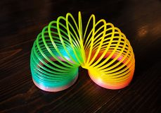 Rainbow toy for kids royalty free stock images