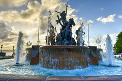 Raices Fountain in Old San Juan royalty free stock images