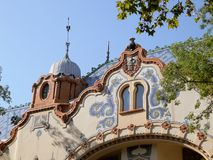 Raichle Mansion, Modern Art Gallery. Beautiful Subotica - old town in Vojvodina stock image