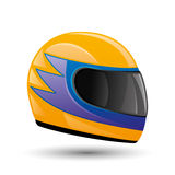 Raicing helmet. Vector illustration. Raicing helmet isolated on white background Stock Images