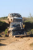 Raid 4X4 adventure race stock images