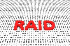 RAID. In the form of binary code, 3D illustration Royalty Free Stock Photography