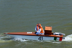 Raid Pavia Venezia. Boat participating in the 68 Raid Pavia Venezia Royalty Free Stock Photography
