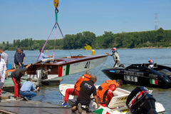 Raid Pavia Venezia. Boats participating in the 68 Raid Pavia Venezia Royalty Free Stock Photo
