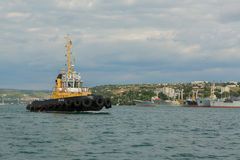 Raid tug RB-412 in the Bay of Black Sea. Stock Photography