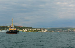 Raid tug RB-365 in the Bay of Black Sea. Stock Photo
