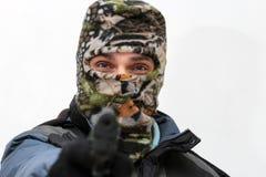 Raider in balaclava Royalty Free Stock Photos