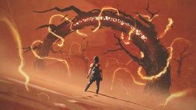Raider van de rode woestijn vector illustratie