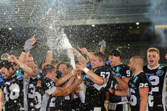 Raiders vs. Vikings Royalty Free Stock Image