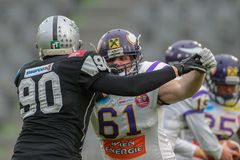Raiders vs. Vikings Royalty Free Stock Images