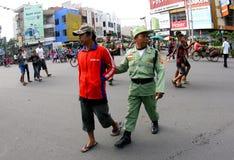 Raids to beggars Stock Photos