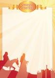 Raies Mary et letterr de salutations de Joseph Photos stock