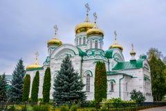 Raifa Raifa Bogoroditsky修道院 给与生命三位一体的大教堂 库存照片
