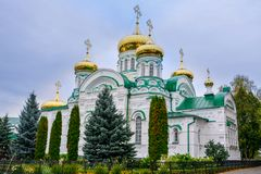 Raifa. Raifa Bogoroditsky Monastery. The Cathedral of the Life-Giving Trinity. stock photos