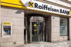 Raiffeisen银行分行在布拉格 免版税库存图片