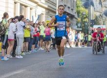 Raiffeisen banka Bucharest Międzynarodowy maraton 04 10 2015 Obrazy Stock