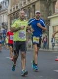 Raiffeisen banka Bucharest Międzynarodowy maraton 04 10 2015 Fotografia Royalty Free