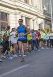 Raiffeisen banka Bucharest Międzynarodowy maraton 04 10 2015 Fotografia Stock