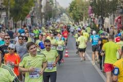 Raiffeisen banka Bucharest Międzynarodowy maraton 04 10 2015 Obraz Stock