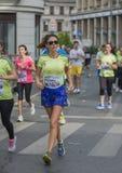 Raiffeisen banka Bucharest Międzynarodowy maraton 04 10 2015 Zdjęcia Royalty Free