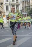 Raiffeisen banka Bucharest Międzynarodowy maraton 04 10 2015 Obrazy Royalty Free