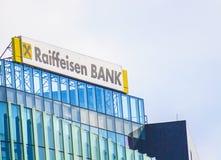 Raiffeisen bankhögkvarter Fotografering för Bildbyråer