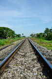 Rail. Parallel to the north of Thailand royalty free stock image