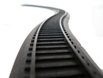 Rail. Black rails for toy train Royalty Free Stock Photography