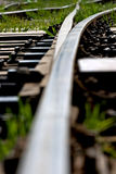 Rail. A old train rail junction Royalty Free Stock Photography