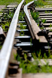 Rail. A old train rail junction stock photos