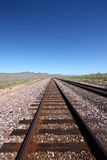 Rail. Tracks in the desert Stock Photography