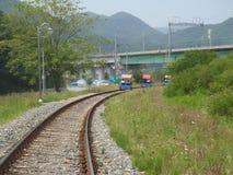 Rail bike. In South Korea stock images