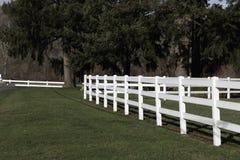 Rail blanc Fencen photographie stock