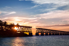 Rail bridge at Florida Keys Royalty Free Stock Photos