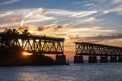 Rail bridge at Florida Keys Royalty Free Stock Image