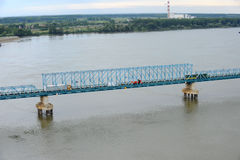 Rail bridge, Novi Sad, Serbia Royalty Free Stock Image