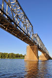 Rail Bridge over the Dnepr river Royalty Free Stock Images