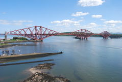 Rail Bridge over Forth. A view of the impressive Forth rail Bridge at North Queensferry Royalty Free Stock Photography
