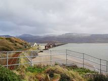 Barmouth Viaduct and the Mawwdach Estuary stock image