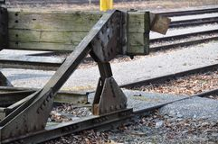 Rail buffer stop Royalty Free Stock Images